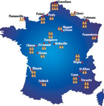Le nombre de centrales et réacteurs nucléaires en France - Électricité et énergie nucléaire