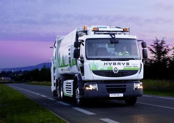 camion hybride diesel chez renault hybrys tech. Black Bedroom Furniture Sets. Home Design Ideas