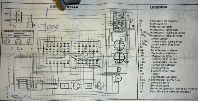 cablage moteur de machine laver 2 vitesses. Black Bedroom Furniture Sets. Home Design Ideas