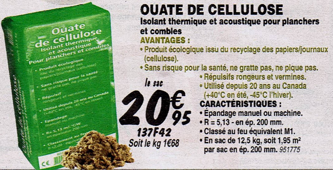 Ouate de cellulose isocell gallery of isocell ouate agrment technique europen with ouate de - Ouate de cellulose brico depot ...