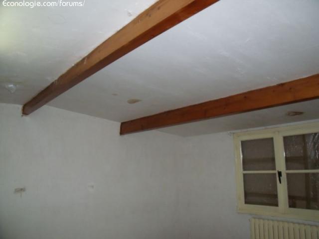 Isolation d 39 une maison des ann es 50 page 8 forums des for Plafond poutres apparentes bois
