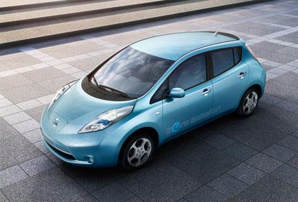 Nissan Leaf en hiver