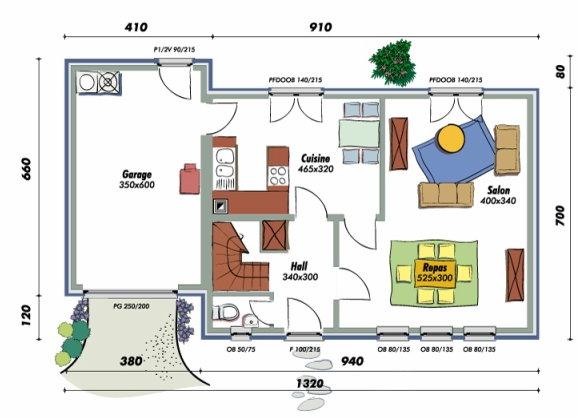 Plan Ct DUne Maison MalMoyennement Isole