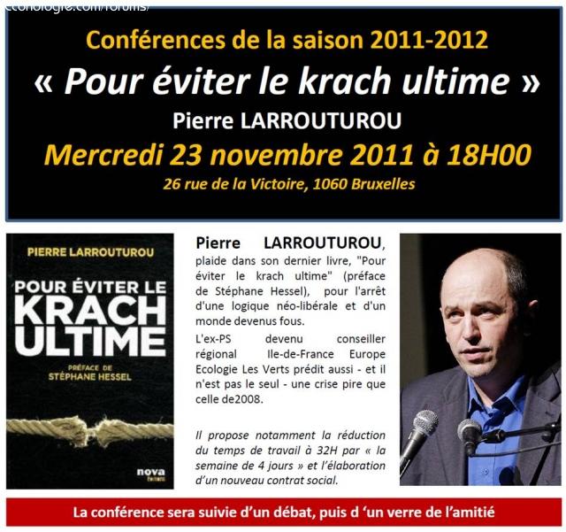 Crise: conférence vidéo de Larrouturou