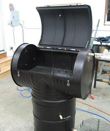 Fabriquer un fumoir avec 2 bidons de 200l forums des nergies chauffage i - Comment fabriquer un barbecue avec un tonneau ...
