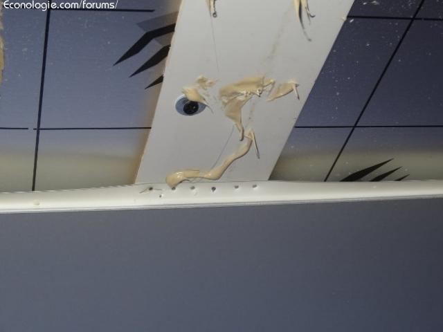 Isolation int rieure d 39 un plafond salle de bain unilin pir forums des nergies chauffage for Raccord lambris pvc plafond