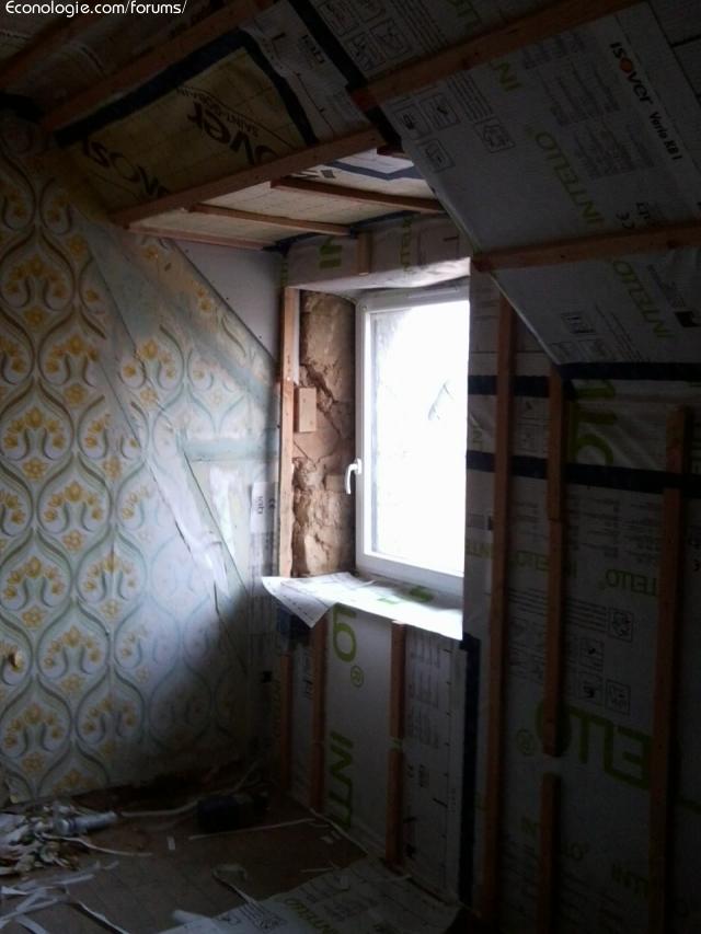 Isolierung der Wimper Renovierung bewohnt Dachboden