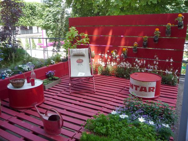 Id es co deco avec r cuperation de palettes de bois for Idee deco jardin pas cher