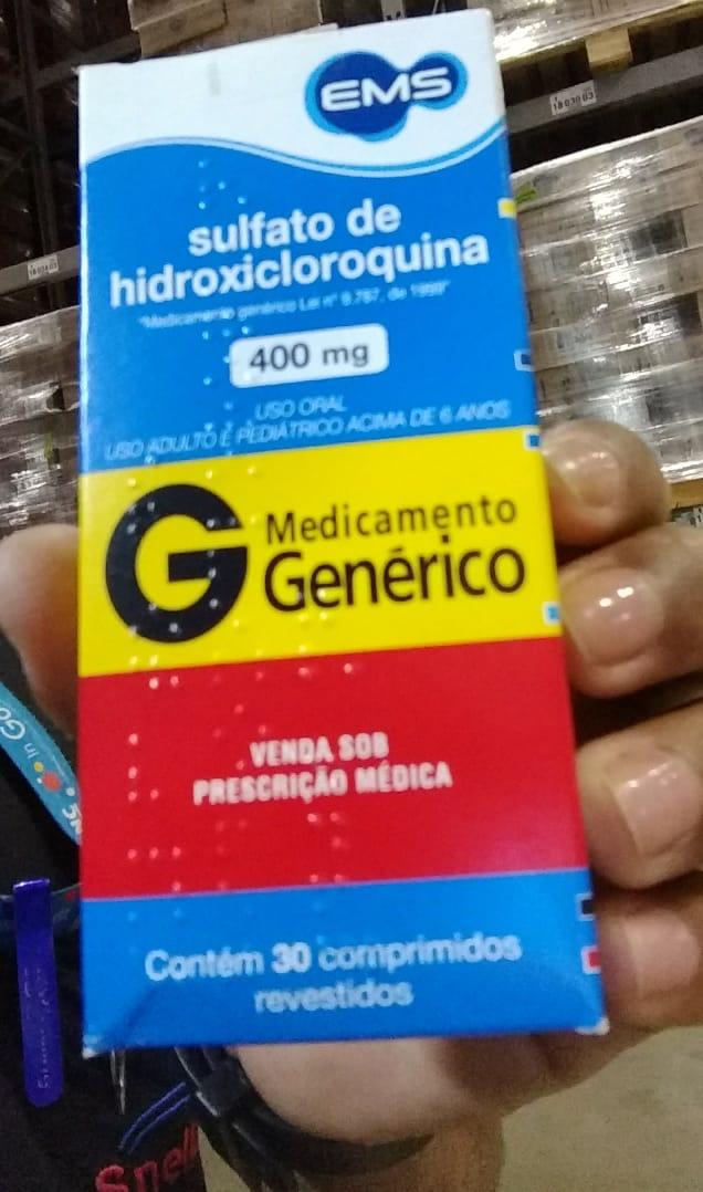 ブラジル人の友達が受け取ったクロロキンの箱。JPG