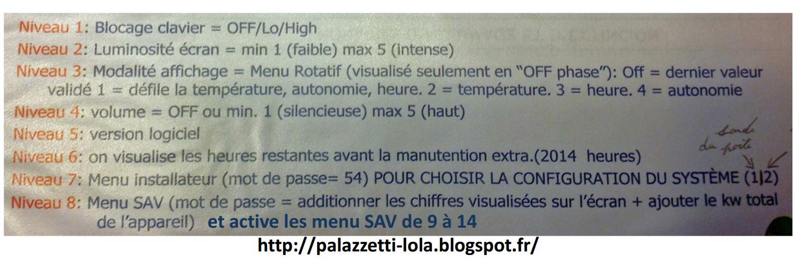 Reset Poele A Pellets Palazzetti Code De Sav Pour Effacer La