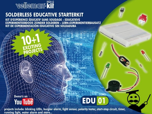 Edukit: kit d'initiation �lectronique �ducatif sans soudure