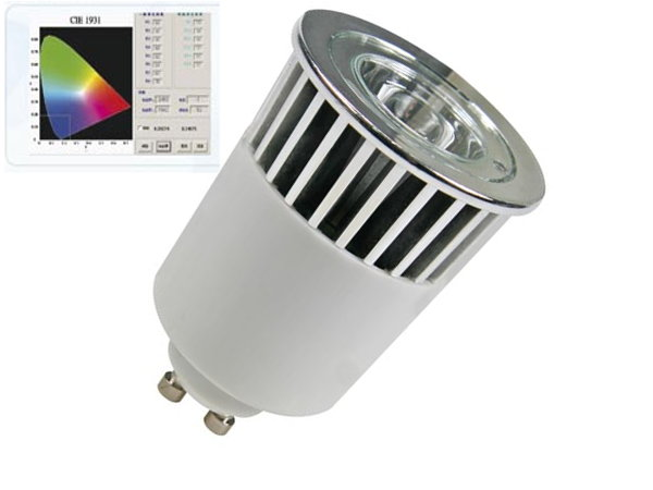 Ampoule LED 5W RGB GU10: multicolore pilotable � distance