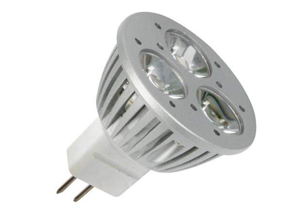 Ampoule LED 5W MR16 12V 3 Leds - blanc chaud