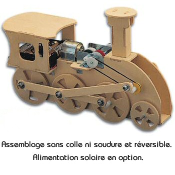 Trainmech: kit locomotive en bois � assembler