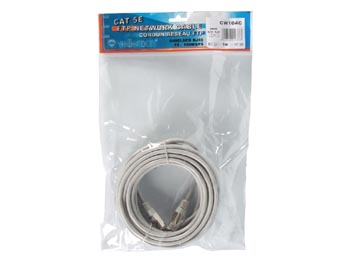 Cable r�seau blind� crois� - 5m - cat 5E