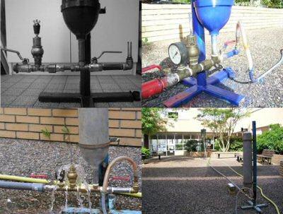 bélier hydraulique en fonctionnement