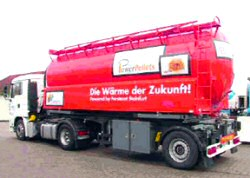 camion ventilatore massa distributore pellet