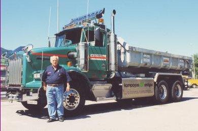caminhão a diesel e gás