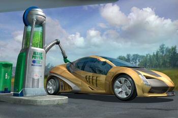 pompe station service algues biocarburant