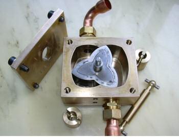 intérieur d'un petit moteur à piston annulaire