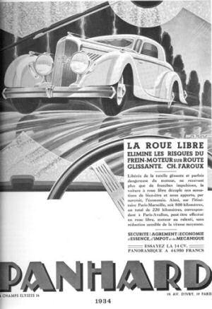 Roue libre Panhard 1934