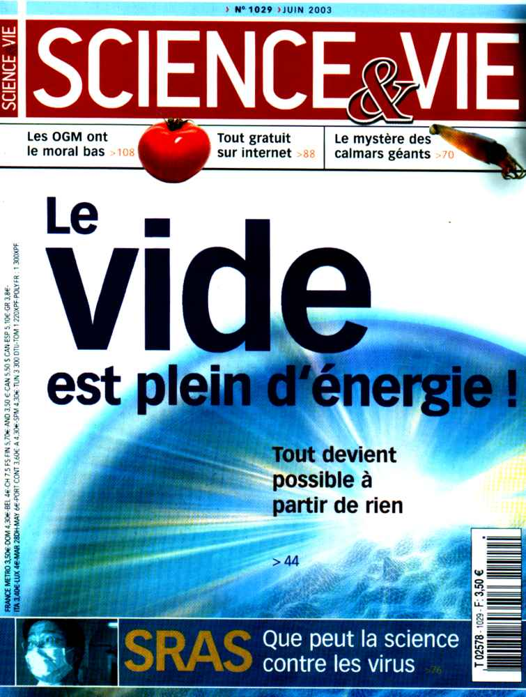 science et vie énergie libre, énergie du vide