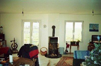 maison solaire poele à bois