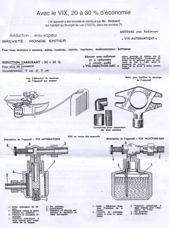 vix injection d'eau moteur