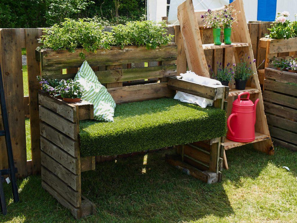 Pallets muebles de jardín.