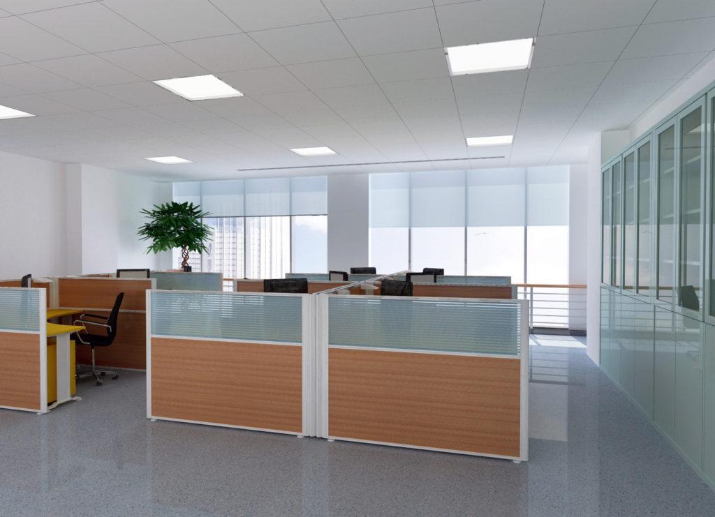 Bureau à panneaux LED
