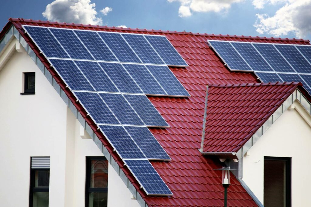 photovoltaic solar panels on tiles