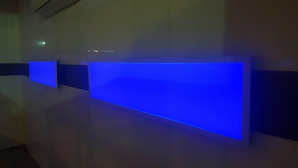 Pannello led blu