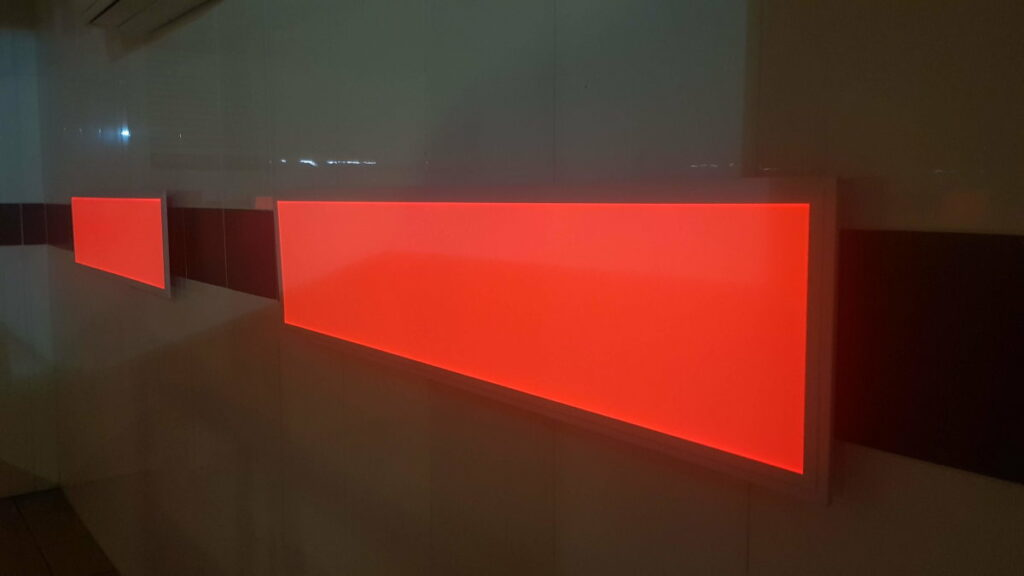 rotes LED-Panel