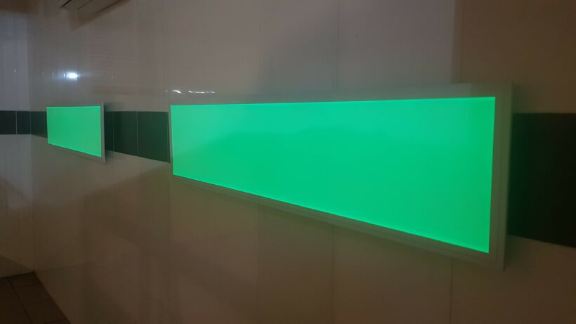 Green rgb led panel