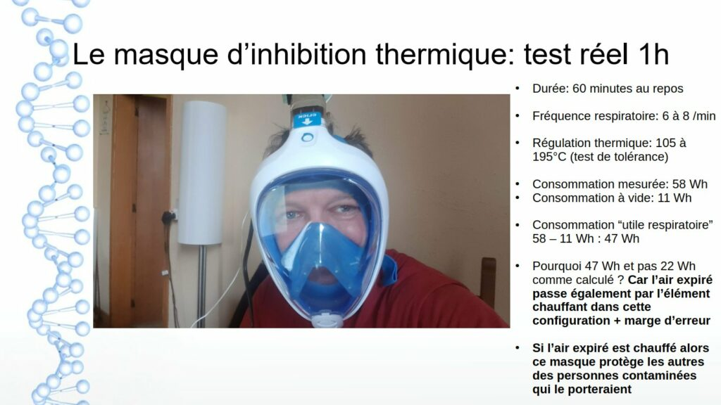 masque anti viral thermique